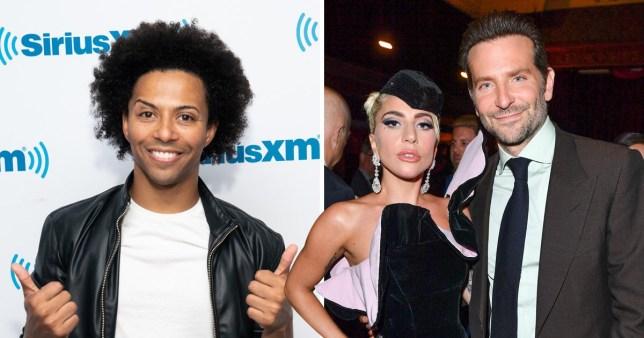 Shangela, Lady Gaga and Bradley Cooper on red carpet