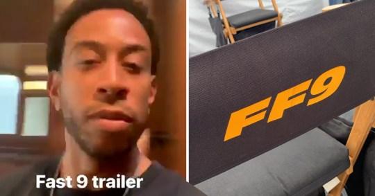 Ludacris on set of Fast & Furious 9