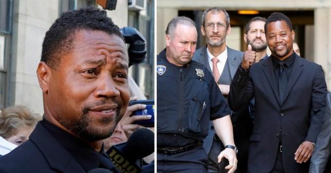 Cuba Gooding Jr leaving court in New York