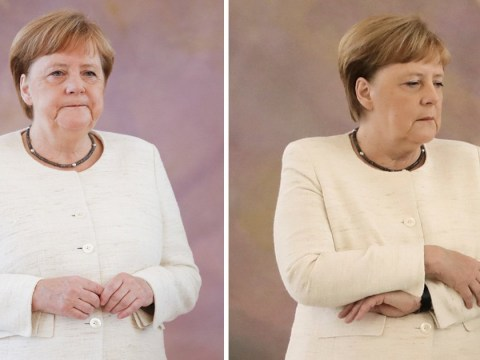 Angela Merkel seen shaking in public for second time in a month