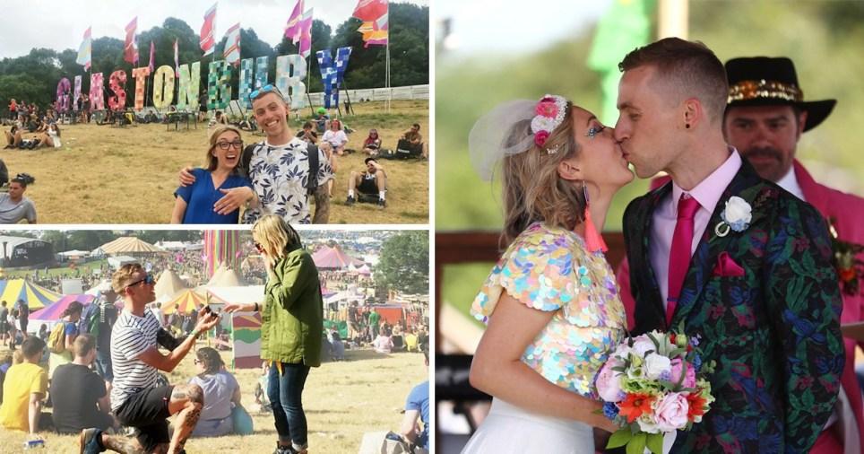Wedding at Glastonbury Festival