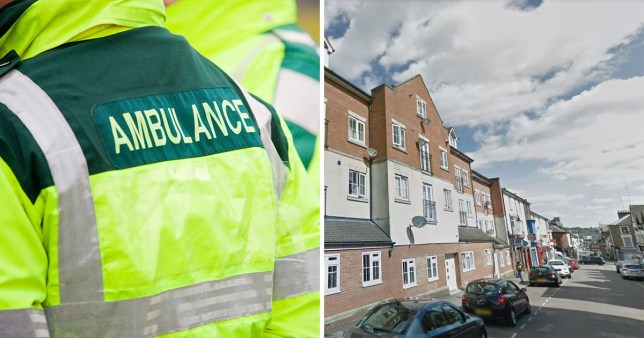 A baby has been rushed to hospital with life-threatening injuries after falling from an open window at a first-floor flat n Wellington Street, Luton