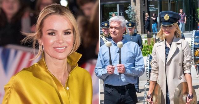 Holly and Phillip brush off Amanda Holden rumours