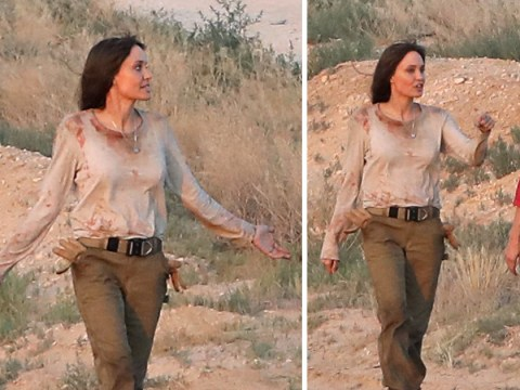 Angelina Jolie covered in blood as she films for new movie Those Who Wish Me Dead