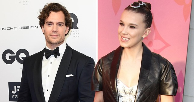 Henry Cavill and Millie Bobby Brown
