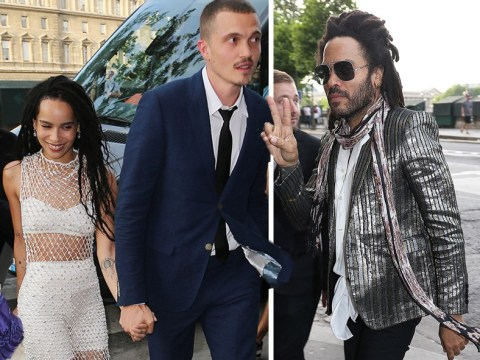 Zoe Kravitz and Karl Glusman look overjoyed at wedding rehearsal in Paris ahead of nuptials