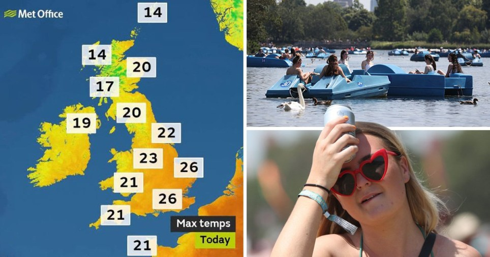 While many places will see sunny conditions, isolated showers are predicted across southern England and Wales (Picture: PA)