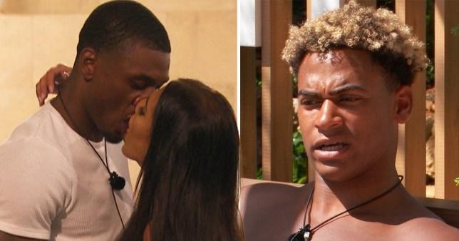 Love Island's Anna Vakili kissing Ovie Soko with Jordan Hames