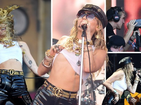 Miley Cyrus kicks off Glastonbury set with Amy Winehouse, Led Zeppelin and Metallica covers