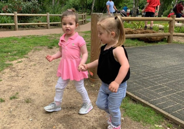 WESSEX NEWS AGENCY Jim Hardy email news@britishnews.co.uk mobile 07501 221880 A mum is roaring mad after a 'tax on tall children' meant she had to buy an adult ticket to get her two-year-old into a dinosaur theme park. Angry mum Abbie Lewis took this pic of daughter Darcie (left) with cousin Aria at the park