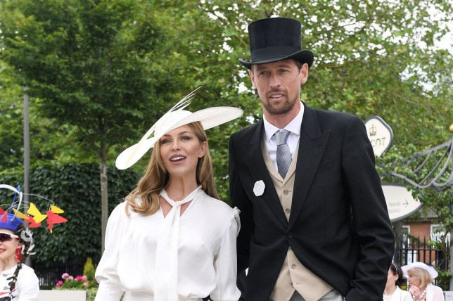 Mandatory Credit: Photo by James Veysey/REX (10317166bh) Abbey Clancy and Peter Crouch Royal Ascot, Ladies Day, UK - 20 Jun 2019