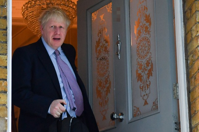 Conservative MP and Conservative leadership contender Boris Johnson leaves his home in London on June 20, 2019