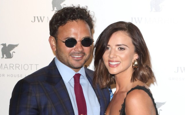 LONDON, UNITED KINGDOM - 2019/04/30: Ryan Thomas and Lucy Mecklenburgh at the JW Marriott Grosvenor House - 90th anniversary party at the JW Marriott Grosvenor House, Park Lane. (Photo by Keith Mayhew/SOPA Images/LightRocket via Getty Images)