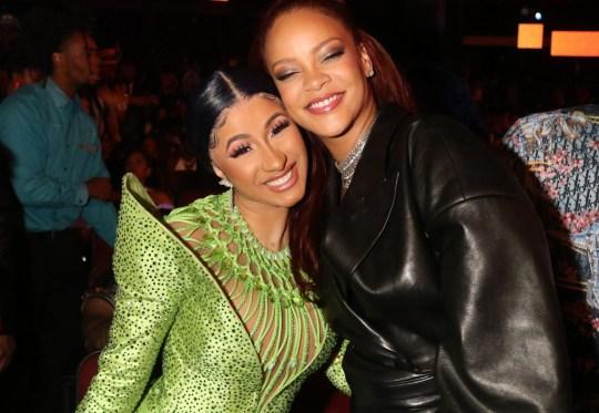 Cardi B and Rihanna BET Awards