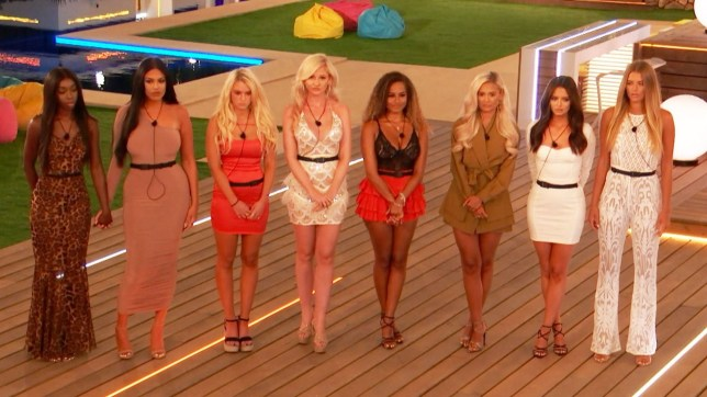 The Love Island girls at the recoupling