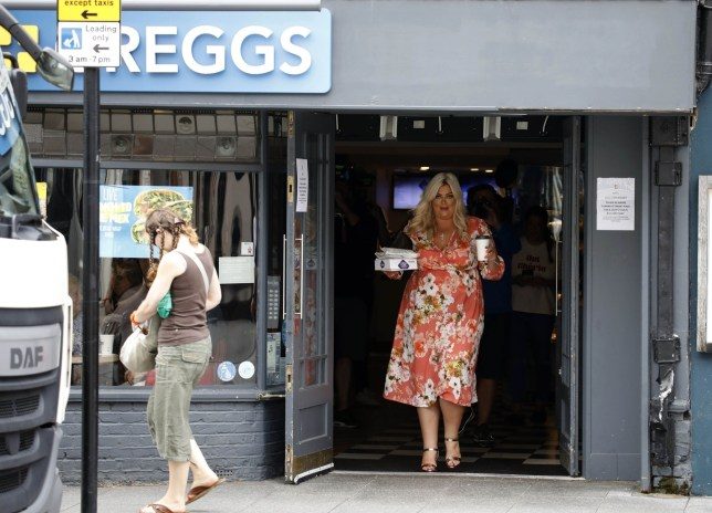 Gemma Collins visits Greggs