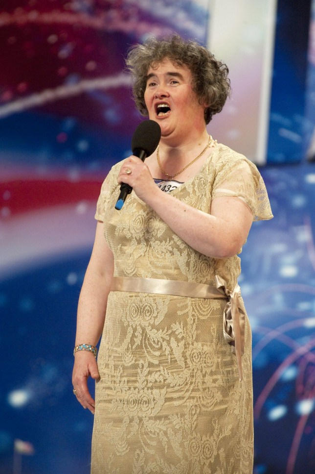 Editorial use only. No book publishing. Mandatory Credit: Photo by Ken McKay/REX (901672ap) Britain's Got Talent - Susan Boyle 'Britain's Got Talent' TV - April - 2009 After becoming a global internet sensation overnight 'Britain's Got Talent' contestant Susan Boyle has found herself fielding media calls from all over the world. The 47-year-old unemployed Scot from West Lothian, who lives alone with her two cats, is the bookies favourite to win the show after blowing both judges and audience away with her rendition of ?I Dreamed A Dream? from the musical ?Les Miserables?. The video clip of her performance on the internet has so far been watched by over a staggering 40 million people worldwide and has even garnered her celebrity fans, including Ashton Kutcher and Demi Moore. In the United States her performance was featured on the NBC Today Show, squeezing tears out of host Kathie Lee Gifford, and Susan has also has appeared on several other shows, including Larry King Live. She has even been invited to sing on the queen of US daytime TV's programme, The Oprah Winfrey Show.