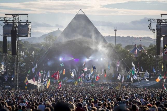 the main pyramid stage at Glastonbury festival