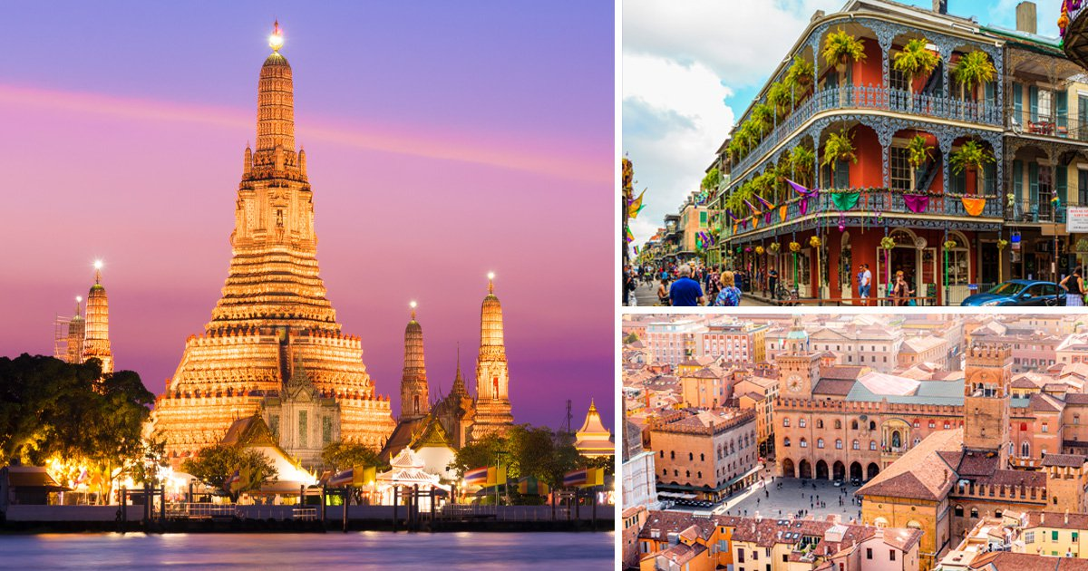 You can get flights to Bangkok, New Orleans and Bologna for a cost of a parcel of Walkers Sensations