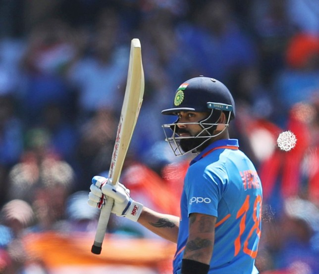 Virat Kohli scored his fourth successive World Cup century during India's match against West Indies