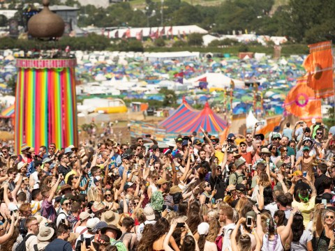 How many people go to Glastonbury and what year has had the highest turnout?