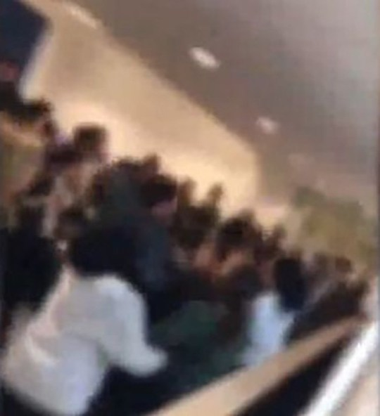 Footage of a 'Thursday fight' at Starbank School