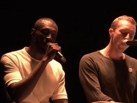 Chris Martin makes surprise appearance during Stormzy's history-making Glastonbury performance