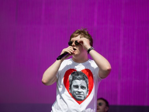 Lewis Capaldi walks on Glastonbury stage to video of Noel Gallagher slagging him off
