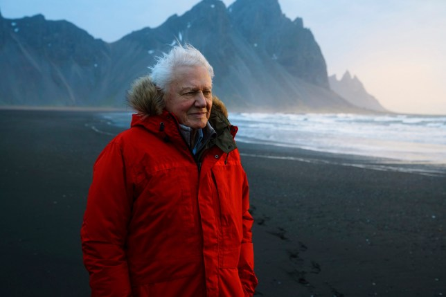 For use in UK, Ireland or Benelux countries only Undated BBC handout photo of Sir David Attenborough in Iceland ahead of BBC's new natural history series Seven Worlds, One Planet. Attenborough made a surprise appearance on Glastonbury's Pyramid stage to launch the new show which will premiere later this year. PRESS ASSOCIATION Photo. Issue date: Sunday June 30, 2019. See PA story SHOWBIZ Glastonbury Attenborough. Photo credit should read: Alex Board/BBC/PA Wire NOTE TO EDITORS: Not for use more than 21 days after issue. You may use this picture without charge only for the purpose of publicising or reporting on current BBC programming, personnel or other BBC output or activity within 21 days of issue. Any use after that time MUST be cleared through BBC Picture Publicity. Please credit the image to the BBC and any named photographer or independent programme maker, as described in the caption.