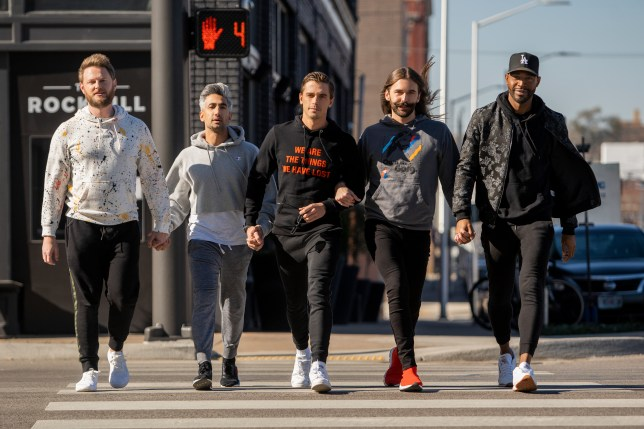 The cast of Queer Eye filming series four