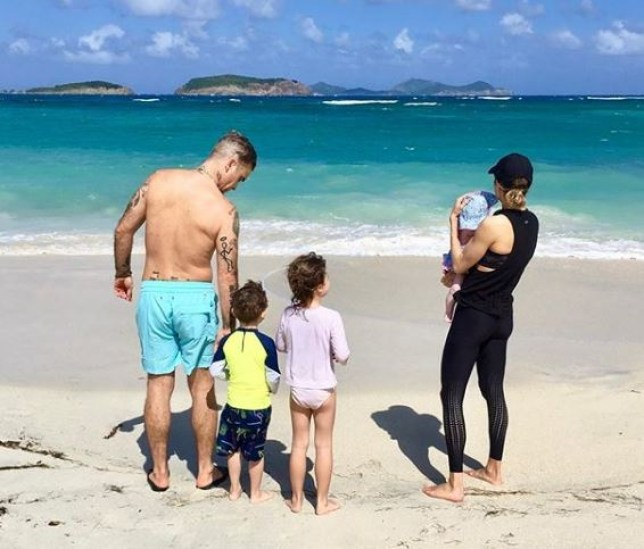 Robbie Williams and family