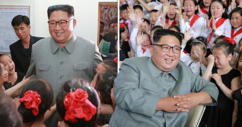 Kim Jong-un surrounded by crying children days after 'diplomat purge' |  Metro News