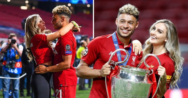 19a8d2869 Little Mix star Perrie Edwards beams with boyfriend Alex Oxlade-Chamberlain  as they celebrate Liverpool's Champions League Final win