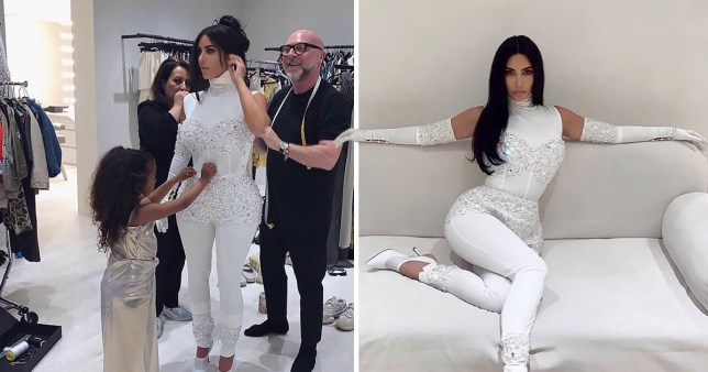 North West helps style mum Kim Kardashian ahaed of her wedding anniversary to Kanye West