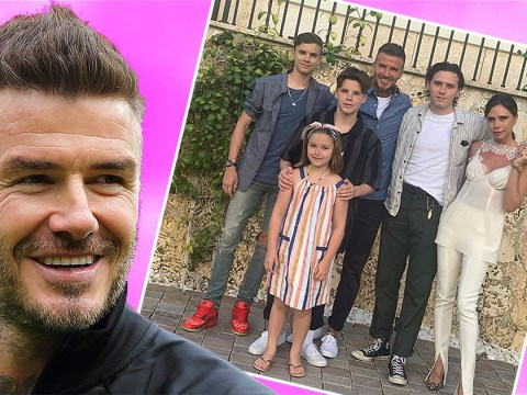 David Beckham shares rare family photo with Victoria and kids as they enjoy Miami holiday