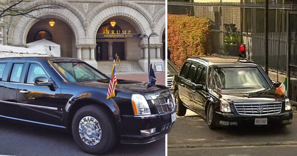 Inside The Beast – Donald Trump's high tech car 'defeated by