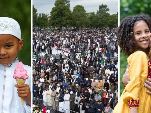 Over 100,000 Muslims celebrate end of Ramadan in Birmingham park