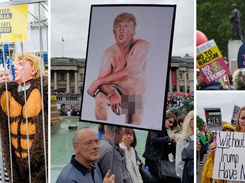 Protesters are demonstrating against Trump because he's 'everything we hate'