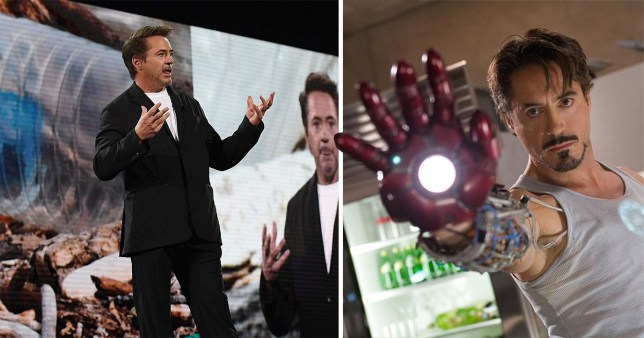 Robert Downey Jr speaks at the Amazon Re:MARS conference in Las Vegas to announce his environmental project The Footprint Coalition