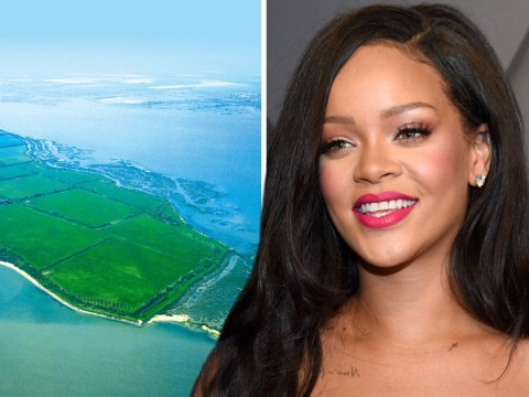 Where is Osea Island as Rihanna records her new album?