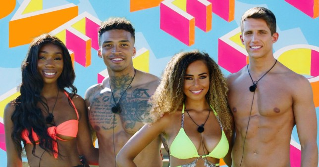 Love Island 2019 couples yewande and michael, and amber and callum