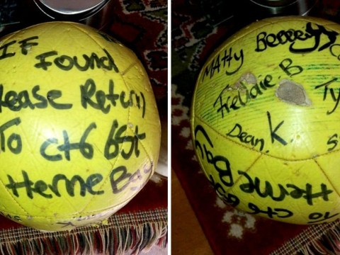 Football found in Holland six years after boys kicked it into sea in Kent
