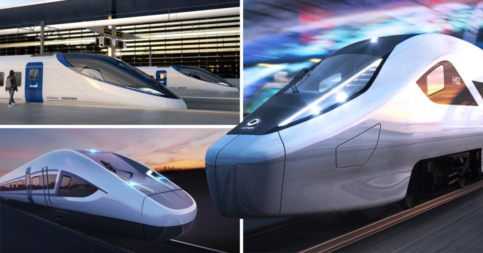 HS2 train designs revealed