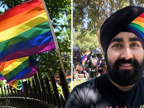 Sikh bisexual scientist turns his turban into a rainbow flag for Pride Month