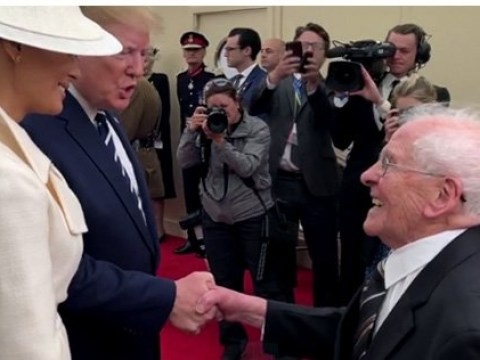 Flirty D-Day veteran Thomas Cuthbert tells Melania Trump 'if only I was 20 years younger'