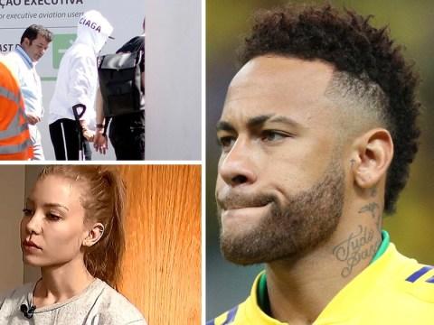 Neymar rape accuser filmed hitting footballer in hotel day after 'attack'