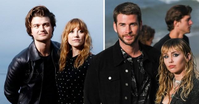 Stranger Things Joe Keery And Girlfriend Join Miley Cyrus