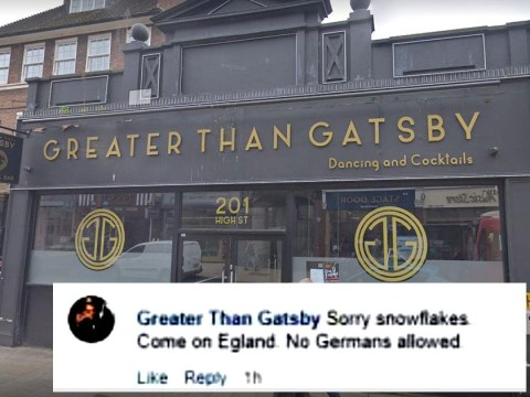 Pub 'bans' Germans during England's D-Day football match