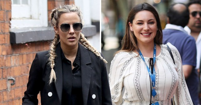 Love Island's Caroline Flack steps out after feud with Kelly Brook