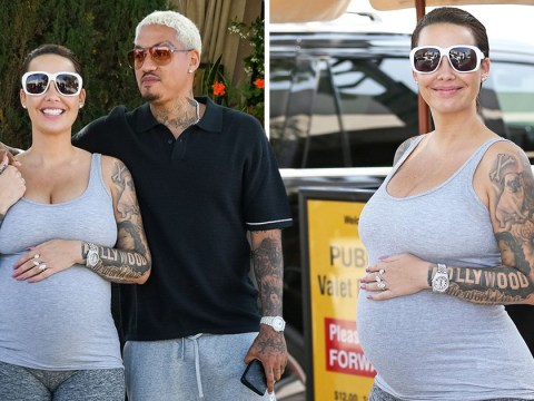 Pregnant Amber Rose is glowing as boyfriend Alexander Edwards spills beans on pregnancy sex